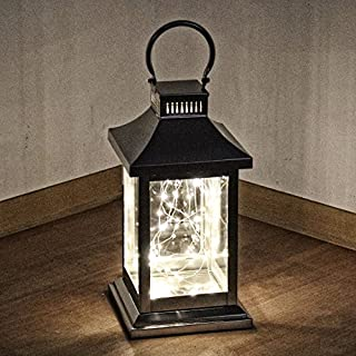albena shop 73-147 Basim Lantern Stainless Steel Weather Resistant & Stainless (S with Light Chain)
