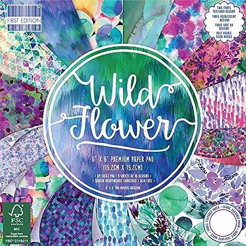 Premium Craft Cardstock First Edition 6x6 Designer Paper Pad - Wild Flower