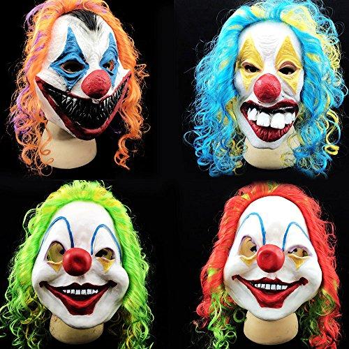 chtsam Clown Maske Machen Oben Voll Gesicht Schrecklich Kostüm Cosplay Farbe zufällig (Meme-gesicht Halloween-kostüme)