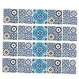 Sharplace 20er-Set Fliesenaufkleber Fliesenbild Fliesen Aufkleber Sticker Badezimmer Bad Folie - A 15x15cm