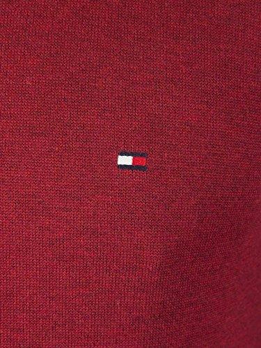 Tommy Hilfiger Herren Pullover Cotton Silk Cneck Rot (Rhubarb Heather 674)