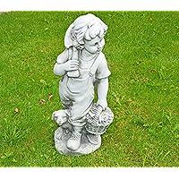 Stone-Lite - Statuetta - Bambino con cesto