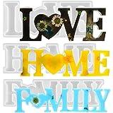 CYH 3 stuk LOVE / HOME / FAMILY Epoxy Mallen - 3D Hars Gieten Silicone Schimmel Set - DIY Tabel Decoratie Hars Mallen - Creat