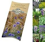 Saatgut Set: 'Mediterranes Kräuterbeet', 5 typische aromatische Pflanzen des Mittelmeerraums - der Duft des Sommerurlaubs für Balkon und Terrasse als Samen in schöner Geschenkverpackung