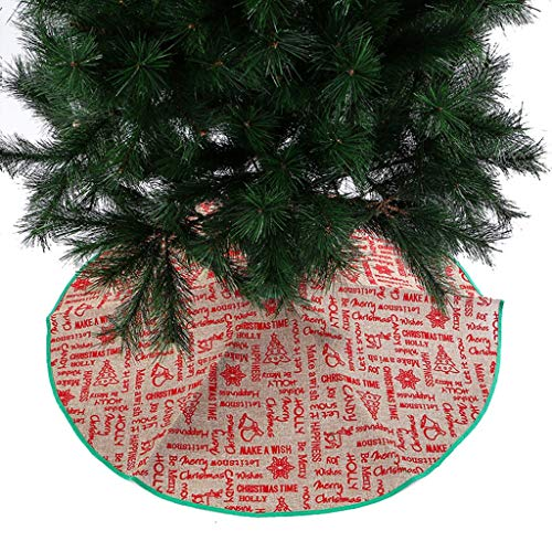 Qomomont Deco runde Filz-Baumdecke,Baumdecke Weihnachtsbaumdecke Baumschürze Weihnachtsdecke Verkleidet den Baumständer A