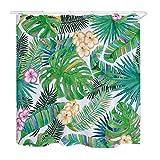 saknn-da Duschvorhang 1 stück grün Tropische Pflanzen duschvorhänge für Bad wasserdicht Polyester Stoff Bad Vorhang bananenblätter Druck