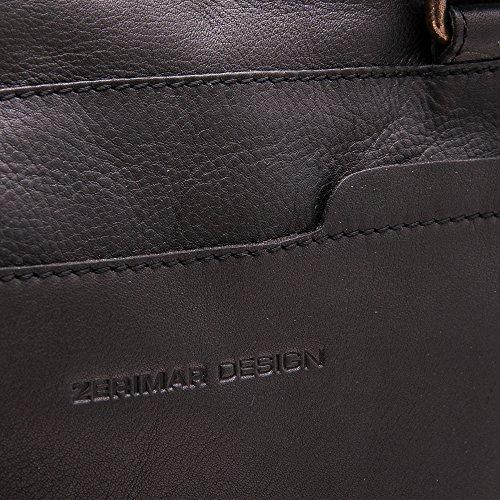 Zerimar Aktentasche Herren-Schultertasche Akten Schulter aus hochwertigem Rindsleder Leder Mehrere Fächer leder Tasche pracktisch aus echtem Leder Maßnahmen: 28X38X9 Schwarz