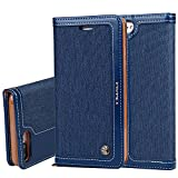 Apple iPhone 6 6s 7 Plus Samsung Galaxy S7 Edge S8 Plus + Leder Hülle Flip Case Handytasche und Brieftasche mit Standfunktion Kredit Karten Fach mit Unsichtbarem Magnet, 5 Farben
