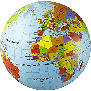 Caly Sarl-019F-Globe aufblasbar Welt-Größe 50cm