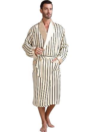 59e2b2ff2414ad Shoppen Sie Herren Seide Bademantel Schlafanzug Pyjama S~3XL auf Amazon.de: Bademäntel