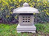 Lanterna giapponese in pietra scolpita a mano, TENKAJAYA, alta 30 cm