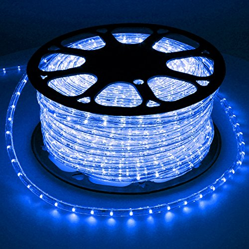 ECD Germany LED Lichterschlauch Blau, 30 Meter/36 LED Lampen pro Meter/Energieklasse A+ -