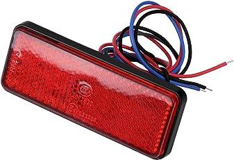 Keenso Universal 12 V 24 LED Motorrad Rücklicht Blinker Licht Bremsleuchte Licht(Rot)