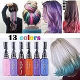 TOPQuaity 13 Farben DIY Langlebige Temporäre Schimmer Haar Farben Creme mit Kämme Haare Färben Kreide Haartönungen