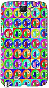 Timpax protective Armor Hard Bumper Back Case Cover. Multicolor printed on 3 Dimensional case with latest & finest graphic design art. Compatible with Samsung Galaxy Note II N7100 Design No : TDZ-25329