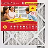 """Flanders PrecisionAire 85756.011220 NaturalAire Micro Particle Red Pleat Air Filter (4 Pack), 12 x 20 x 1"""""""