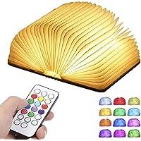 Lampada Libro RGB,Lampada Led a Forma di Libro,12 colori che modificano l'umore e dimmerabile con timer USB ricaricabile…