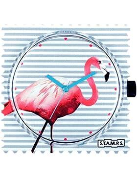 S.T.A.M.P.S.- Stamps Uhr Zifferblatt Pink Flamingo 103760