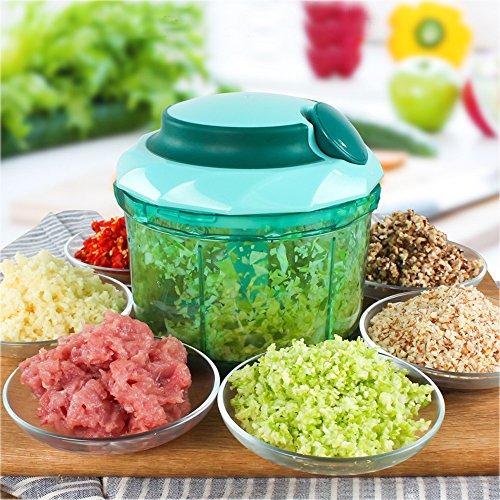 HGHMLIFE Hand-Powered Food Chopper,Vegetable Chopper, Mincer ,Blender to Chop Fruits,Whisk,Stirrer,Grinding (Chopper Und Blender)