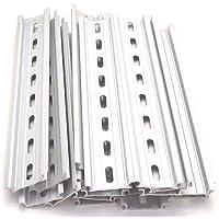 mxuteuk MXU-DIN-250 Lot de 2 rails DIN /à fente en aluminium RoHS 25,4 cm de long 35 mm de large 7,5 mm de haut