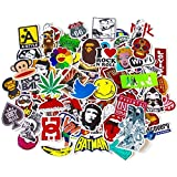 StickerFactory (paquete de 100) Mejor vinilo de las etiquetas engomadas Pack - Todos los estilos diferentes al azar pegatinas - para Macbook Laptop Tabla De Snowboard equipaje iPhone Maleta coche de la bici pegatina de parachoque bomba Pack - arte pop retro de la pintada de Super Cool Decal Pegatinas Paquete