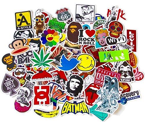 BestMall 100 Aufkleber - Volcom-logos