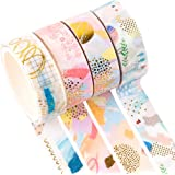 YUBX Oro Washi Tape Set cinta adhesiva decorativa Washi Glitter Adhesivo de Cinta Decorativa para DIY Crafts Scrapbooking 4 R
