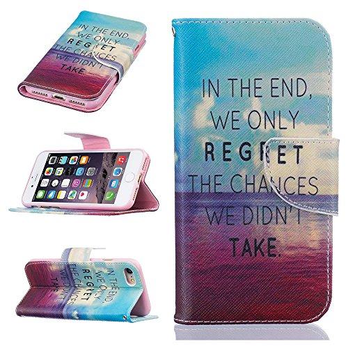 Ooboom® iPhone 8 Plus/iPhone 7 Plus Hülle Flip PU Leder Schutzhülle Tasche Case Cover Wallet Standfunktion mit Kartenfächer Bargeld Aussparrung für iPhone 8 Plus/iPhone 7 Plus - Bär Regret