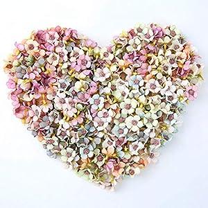 NWSX – Flores artificiales de seda para decoración, 100 unidades de 2cm