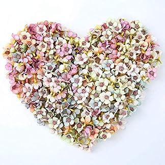 NWSX – Flores Artificiales de Margarita para decoración de Flores de Seda, 100 Unidades de 2 cm