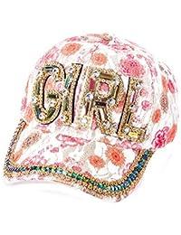 Damen Basecap mit Strass Baseball Cap Mütze Kappe Bunt Girl