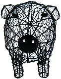 Craft–Lata de Pig cesta soporte para huevos, multicolor, 11x 9
