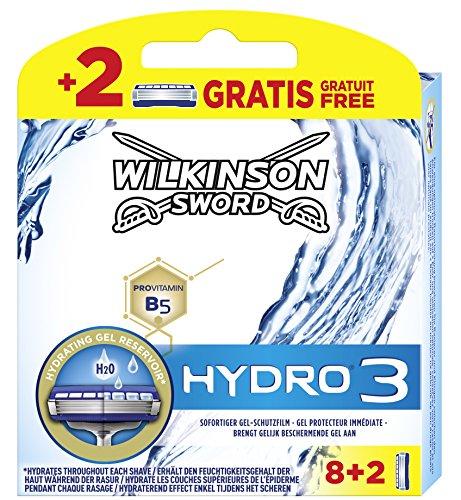 Wilkinson Sword Hydro 3 Rasierklingen für Herren Rasierer 8 + 2 St