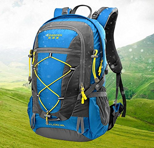 Outdoor trekking zaino ultra leggero 40L equitazione usura spalla-viaggi tour borsa impermeabile copertina , black 40 litres blue 40 litres