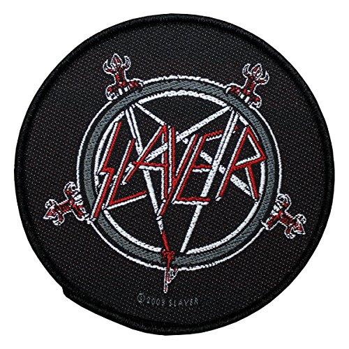 Slayer logo logo rotondo Patch Tessuto 9cm