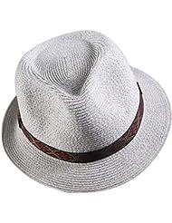 Las mujeres en los apartamentos de vacaciones de ocio Crown corto volumen Soulful jazz sunscreen compras hem sombreros de paja y lavanda