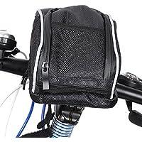 Zhuhaimei,B - Soul Ciclismo Bicicleta Bicicleta Delantera Bolsa Bolsa de Manillar de liberación rápida con Protector de Lluvia(Color:Negro)