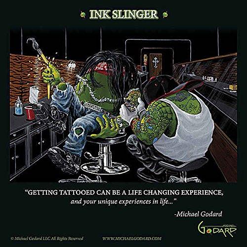 Tinte Slinger von Michael Godard Neuheit Humor Funny Fantasy Tattoo Print Poster 30,5x 30,5 (Godard Michael Artwork)