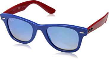 Ray-Ban Junior Kids' 0rj9066s7039b747junior Wayfarer Non-Polarized Iridium Square Sunglasses, Blue, 47 mm