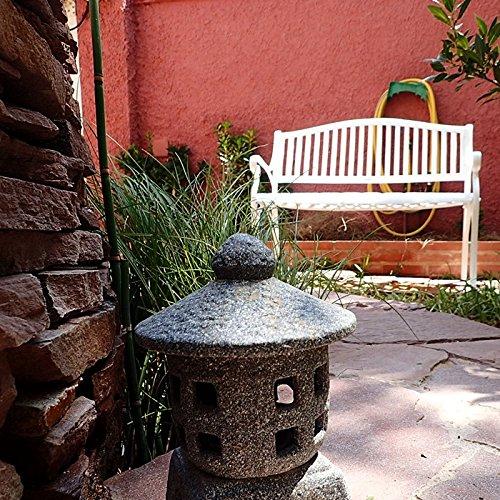 Lazy Susan – GRACE Gartenbank aus Aluminium, Weiß (Beiges Kissen) - 5