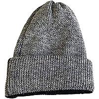 Gorros Gorro De Sombreros Gorras Calentar Cálido Color Sólido En Otoño E Invierno Calor Curling Protección Auditiva Sombrero De Pareja ZHANGGUOHUA (Color : Gray)