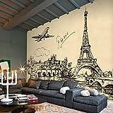 Leegt 3D Papier Peint Wallpaper Fresque Mural Peint À La Main Sur Mesure Coin Simple Croquis 3D Urbaine Cafés Wallpaper Wallpaper 3D Ktv Murales Boutique De Thé, Café 350cmX300cm