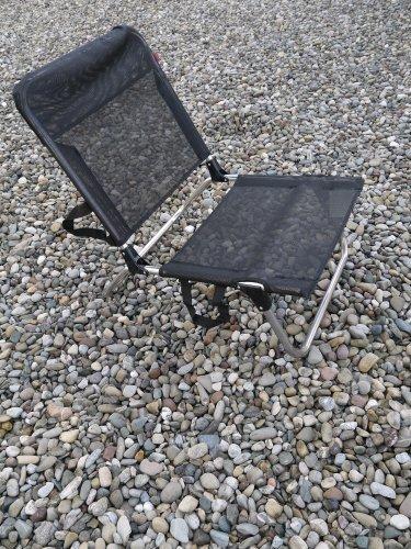 Jan Kurtz Strandstuhl Quick Aluminium Gestell und Kunststoffgewebe schwarz