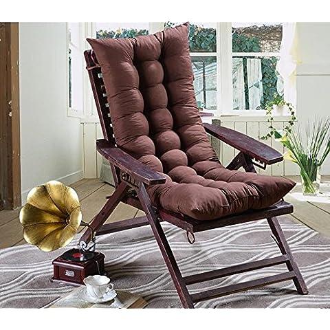 Lay Cuscino peluche lungo vimini sedia cuscino divano cuscino imbottito per sedia a dondolo, colore: marrone