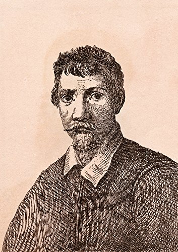 Ken Welsh / Design Pics - Annibale Carracci 1560-1609 Italian Baroque Painter From 75 Portraits Of Celebrated Painters From Authentic Originals Etched By James Girtin Published London 1817 Photo Print (60,96 x 86,36 cm) -