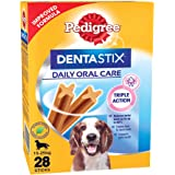 Pedigree Dentastix Medium Breed (10-25 kg) Oral Care Dog Treat, 720g Monthly Pack (28 Chew Sticks)