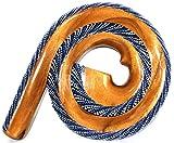 Didgeridoo Bois Suar Peint Spirale Artisanal Aborigène Spiral bleu