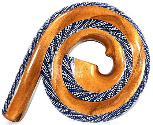 Didgeridoo Holz Suar ID Spirale handwerkliche Aboriginal Spiral blau