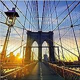 artissimo, Glasbild, 30x30cm, AG2068A, Metropolis II, New York Skyline, Bild aus Glas, Moderne Wanddekoration aus Glas, Wandbild Wohnzimmer modern