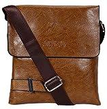 Bag-Age Areo Messengerbag, Brown, Multifunctional Pu Leather Bag, Vintage Purse Shoulder Crossbody Side